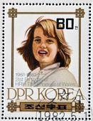 NORTH KOREA - CIRCA 1982: A stamp printed in DPR Korea shows Princess Diana of Wales circa 1982