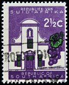 SOUTH AFRICA - CIRCA 1960: A stamp printed in RSA shows Groot Constantia circa 1960