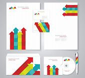 Corporate Identity Template Color Elements.