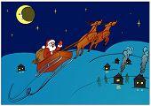 Santa Claus hurry to make gifts