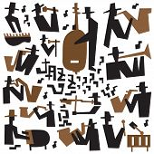 jazz musicians - icons set