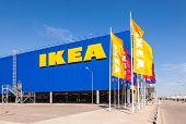 Samara, Russia - April 19, 2014: Ikea Samara Store. Ikea Is The World's Largest Furniture Retailer A