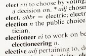 The Word Election From The Dictionary
