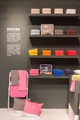 Pantone Towels On Display At Homi, Home International Show In Milan, Italy