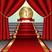 picture of medal  - Vector abstract illustration of curtains - JPG