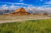 Abandoned Barn On Mormon Row In Grand Teton Np, Usa