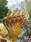 Dragon statue on Big Buddha's hill