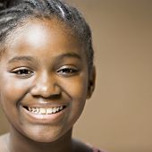 Close up of African girl smiling