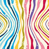 Hippie Colorful striped pattern background. Vector