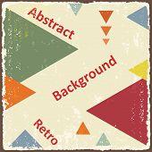 Avant-Garde retro triangle background. Vector
