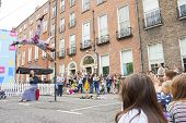Dublin, Ireland - July 13: Acrobat In The Laya Healthcate City Spectacular Festival In  Dublin