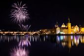 New year atmosphere in Prague, Czech Republick