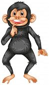Illustration of a black chimpanzee