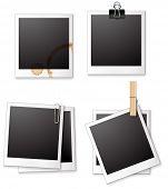 Illustration of four different polaroid frames