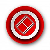 film red modern web icon on white background