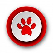 picture of webbed feet white  - foot red modern web icon on white background - JPG