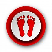 foot red modern web icon on white background