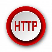 http red modern web icon on white background