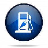 hybrid fuel internet blue icon