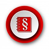 law red modern web icon on white background