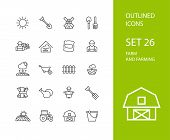 stock photo of meat icon  - Outline icons thin flat design - JPG