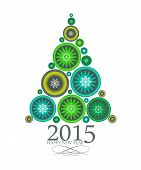 Abstract Beauty Christmas 2015 and New Year Background. Vector I