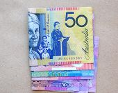 Australian currency notes.