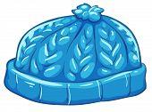 Illustration of a blue bonnet on a white background
