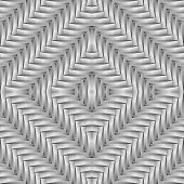 Design Seamless Monochrome Diamond Interlaced Pattern