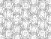 Design Seamless Monochrome Hexagon Geometric Pattern