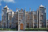 Vorontsov Palace in Alupka Crimea. Front part.