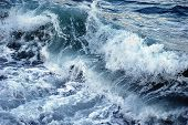 Wave in rough seas during storm