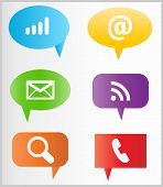 aqua blue button call chat connection design e-mail glossy green icon illustration image information