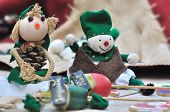 picture of rag-doll  - two small cloth dolls handmade for Christmas - JPG