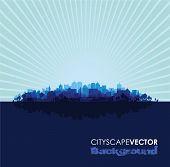 blue cityscape overprint background