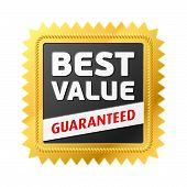 Best Value label. Vector.