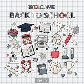 Back To School Set On The Notebook Sheet