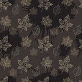 Seamless Autumn Pattern:abstract Leaf
