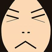cartoon face expression forgot
