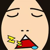cartoon face expression sleep