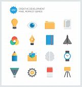 Pixel Perfect Creative Development Flat Icons