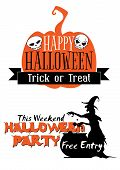 Halloween holiday invitation