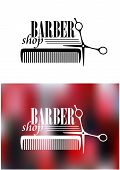 Retro barber shop icon