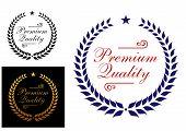 Premium quality laurel wreath logo or emblem
