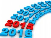 stock photo of new year 2014  - 2014 future represents the new year 2014 three - JPG