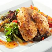 BBQ Chicken Breast with Freshness Salad and Sour Sweet Sauce