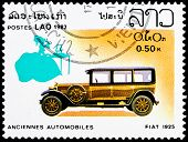 Post Stamp From Laos