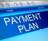 Payment Plan Concept.