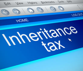 image of tariff  - Illustration depicting a computer screen capture with an inheritance tax concept - JPG