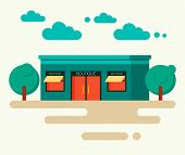 Vector Illustration Concept Of Boutique In Trendy Flat Design